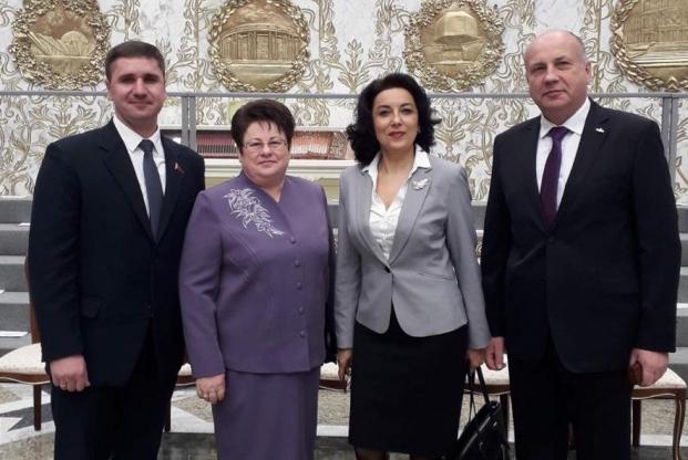 Участие во встрече Президента Беларуси А.Лукашенко с парламентариями 6-го и 7-го созывов 05.12.2019 во Дворце Независимости Республики Беларусь